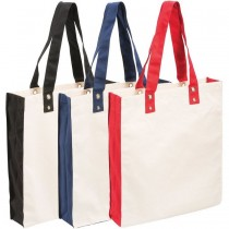 Canvas Circle Studded Tote Bags