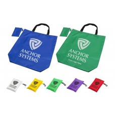 Foldaway Logo Branded Shopping Bags