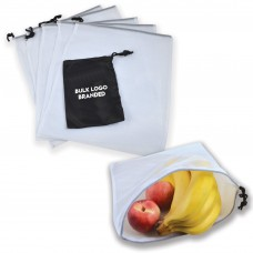 Produce Bags in Logo Printed Pouches