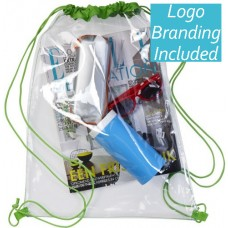 PVC Clear Promotional Drawstring Bags