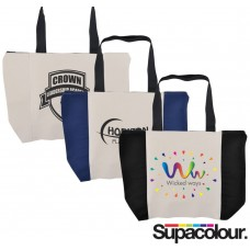 Extra Wide Custom Zipper Tote Bags Branded