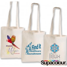 Multi Colour Long Handle Canvas Totes