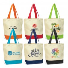 Two Tone Promotional Canvas Day Bags