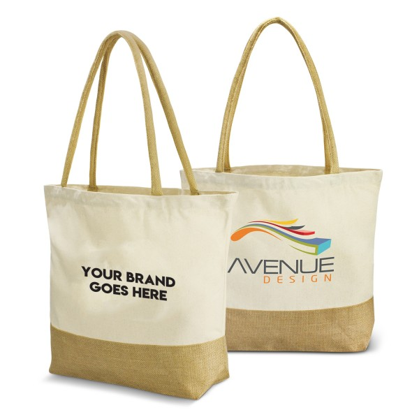 Jute and Cotton Shoppers Logo Branded